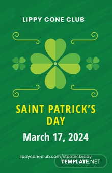 Free St Patrick's Day Poster Template