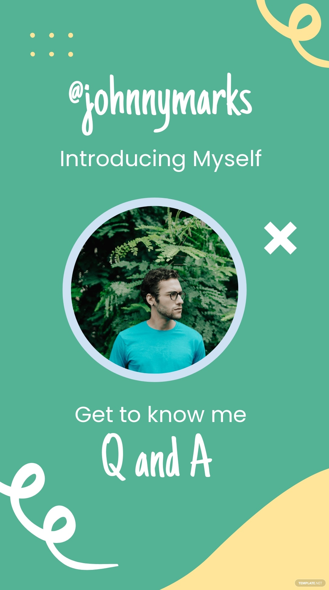 Get To Know Me Introduction Instagram Story Template.jpe