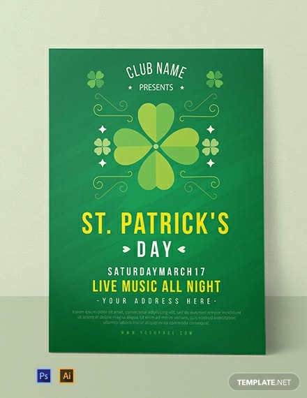 Free St Patrick's Day Invitation Template