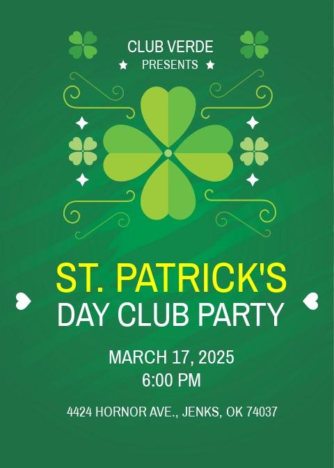 Free St Patrick's Day Invitation Template.jpe