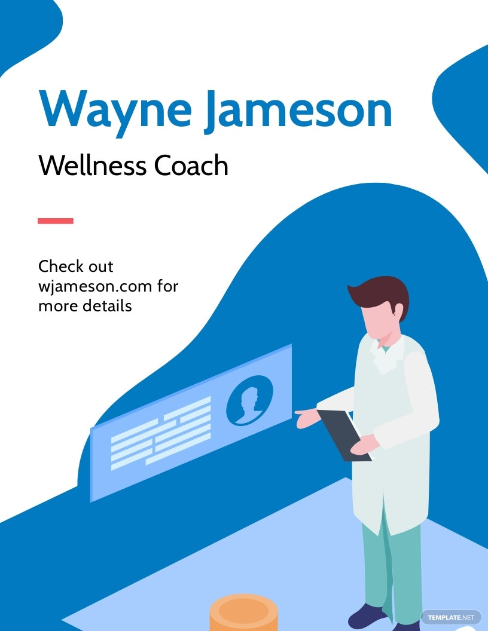 Health And Wellness Coach Flyer Template.jpe