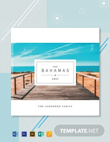 Free Travel Photobook Cover Template