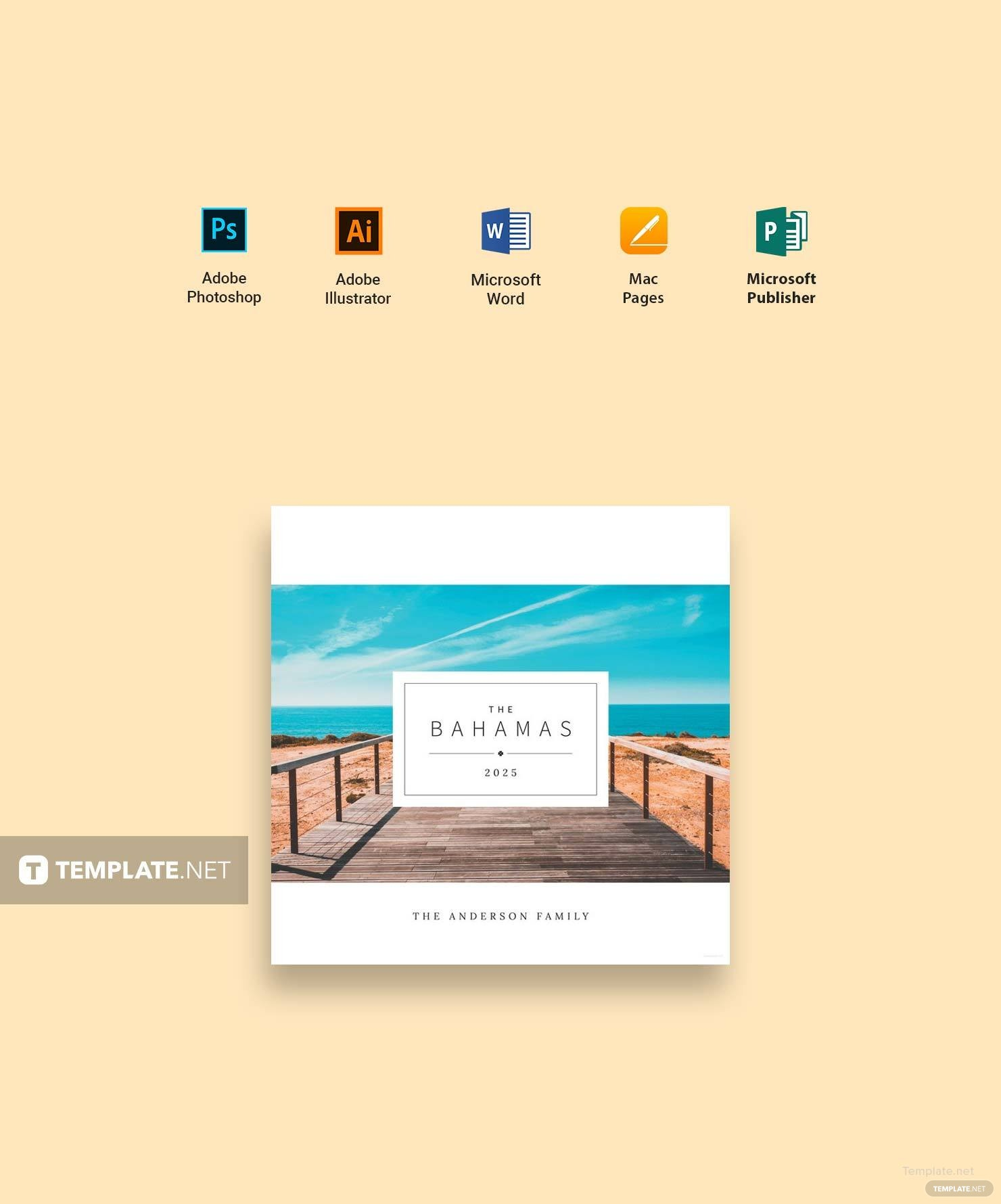 Travel PhotoBook Cover Template