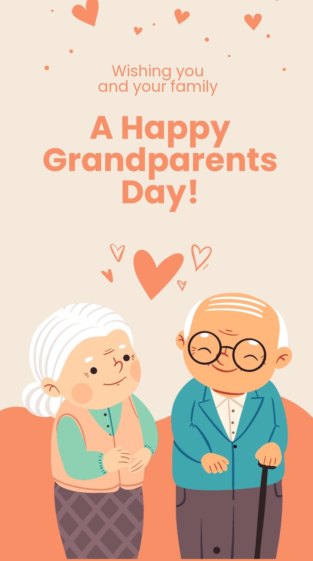 Happy Grandparents Day Whatsapp Post Template.jpe