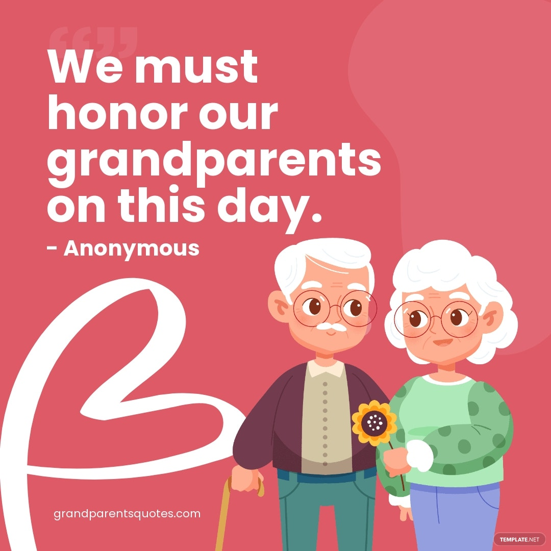 Grandparents Day Quote Instagram Post Template.jpe
