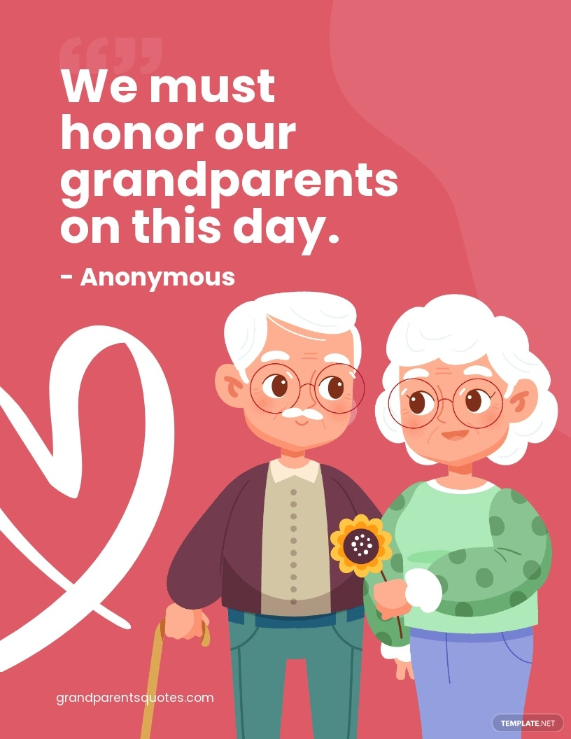 Grandparents Day Quote Flyer Template.jpe
