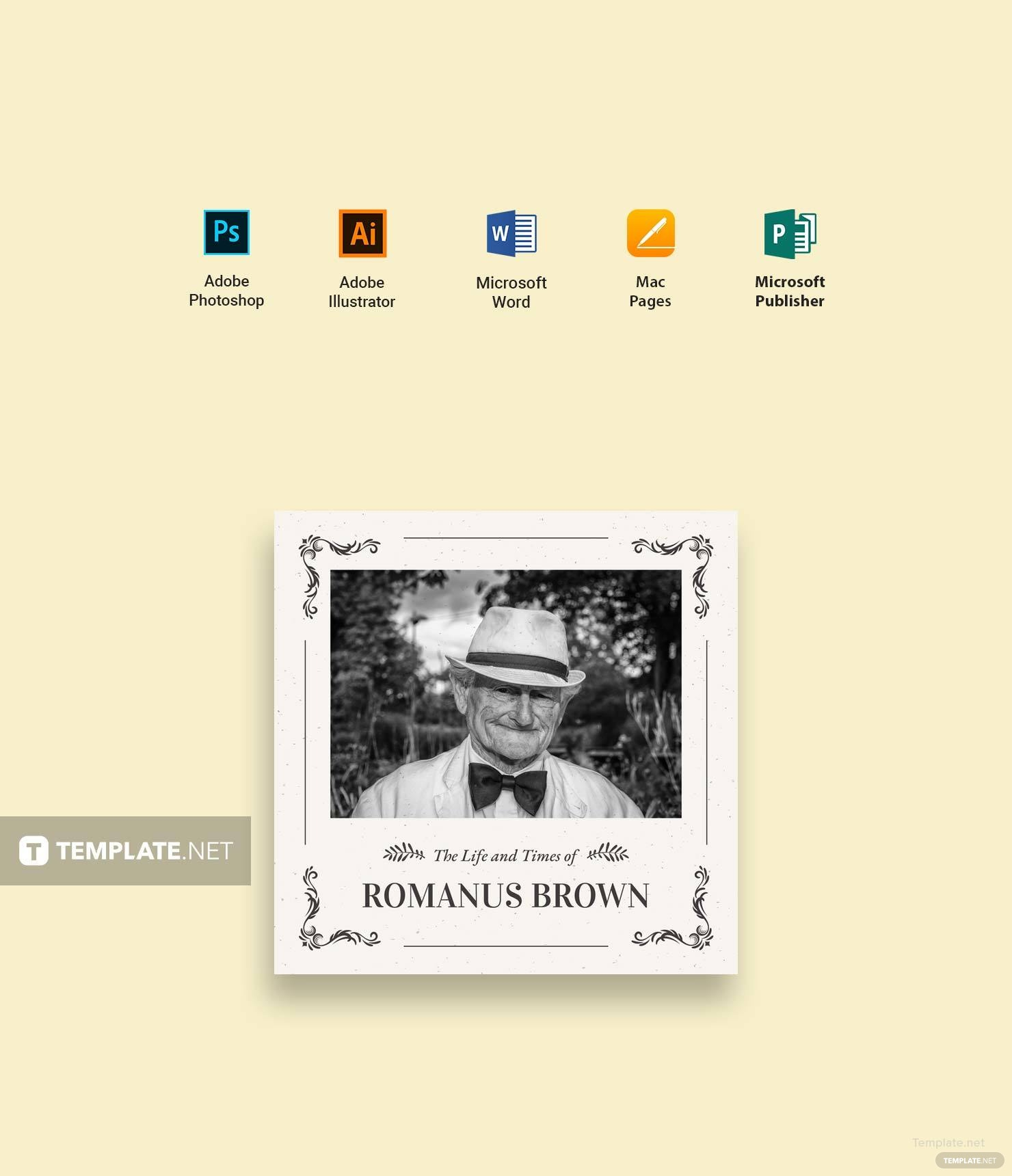 Free Vintage Photobook Cover Template in Microsoft Word, Microsoft ...