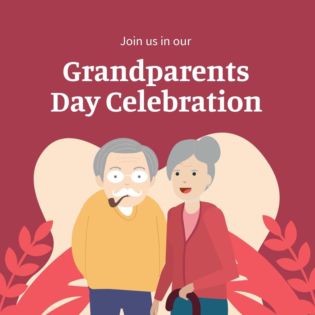 Grandparents Day Invitation Linkedin Post Template.jpe