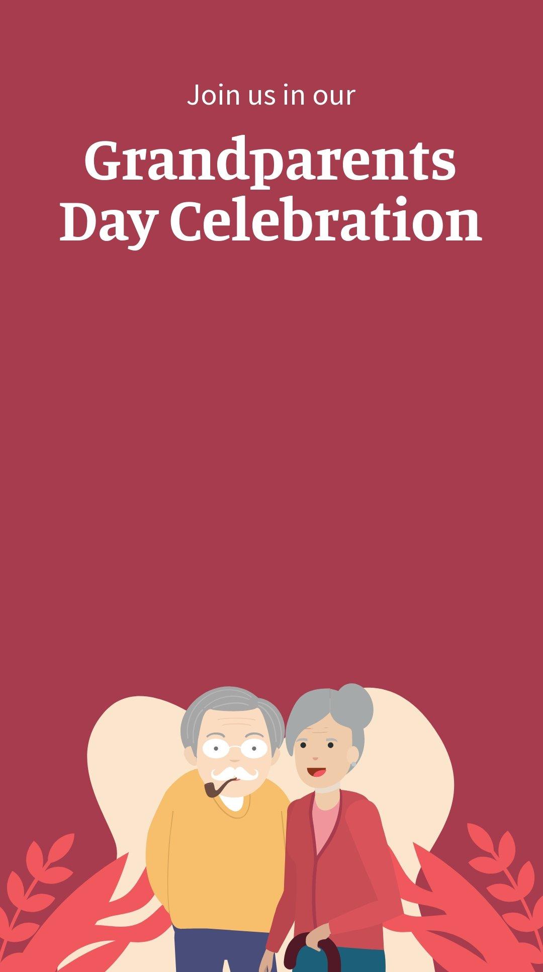 Grandparents Day Invitation Snapchat Geofilter Template.jpe