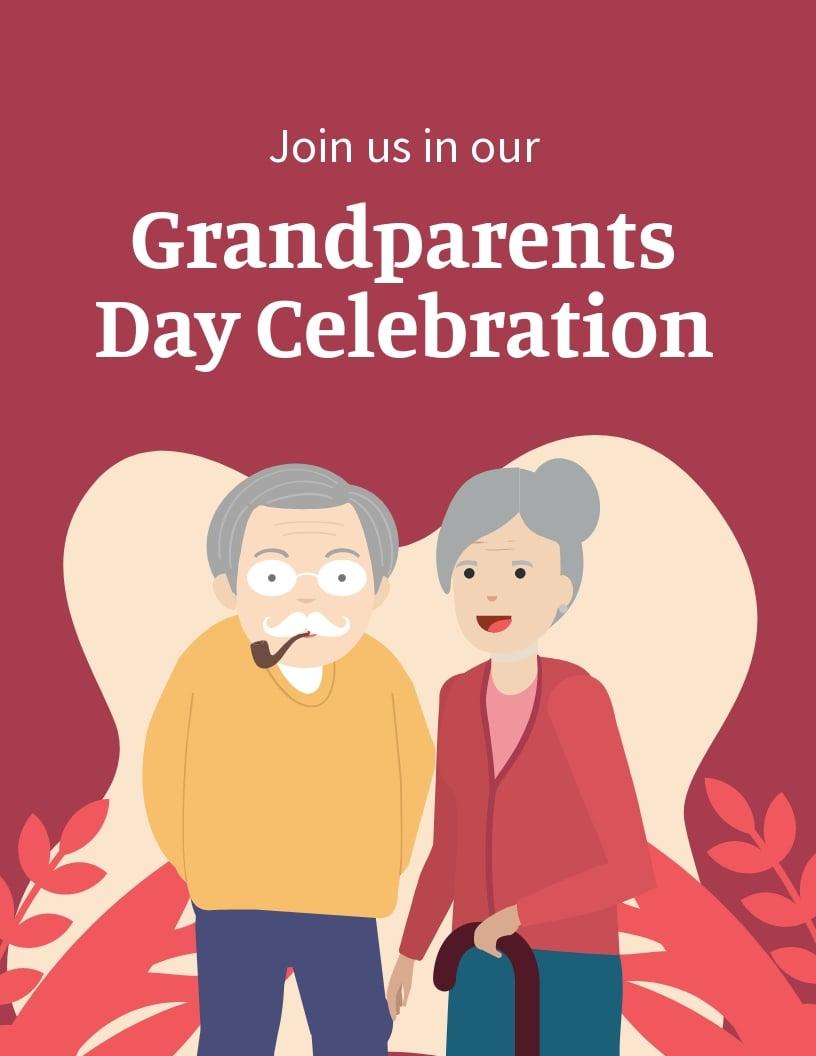 Grandparents Day Invitation Flyer Template.jpe