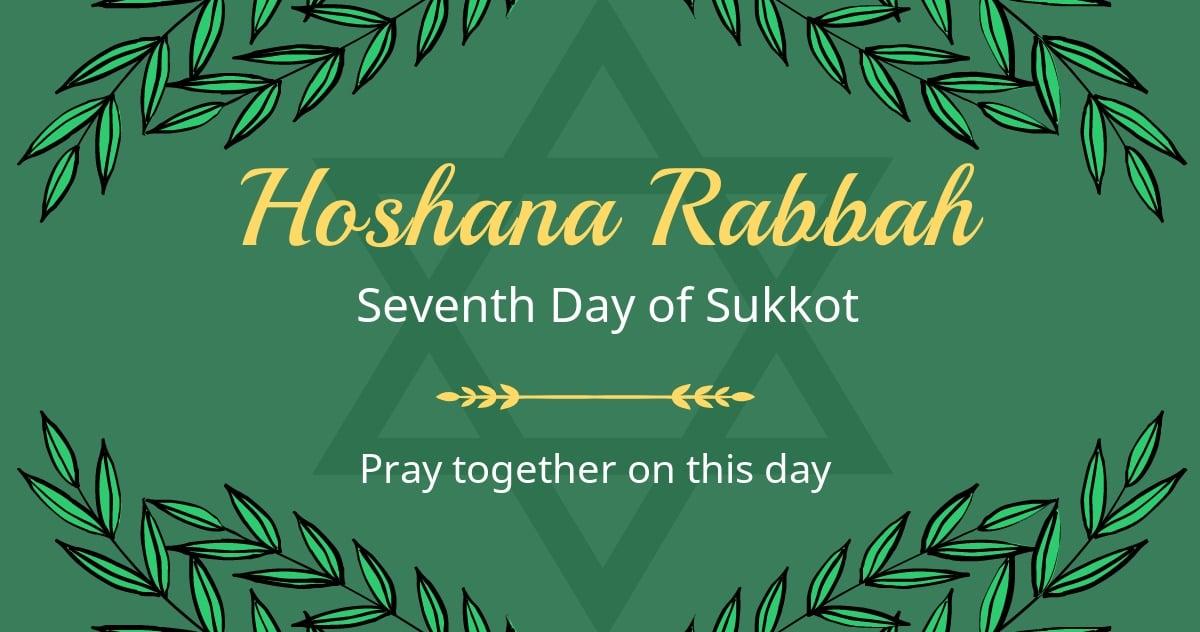 Hoshana Rabbah Facebook Post Template.jpe