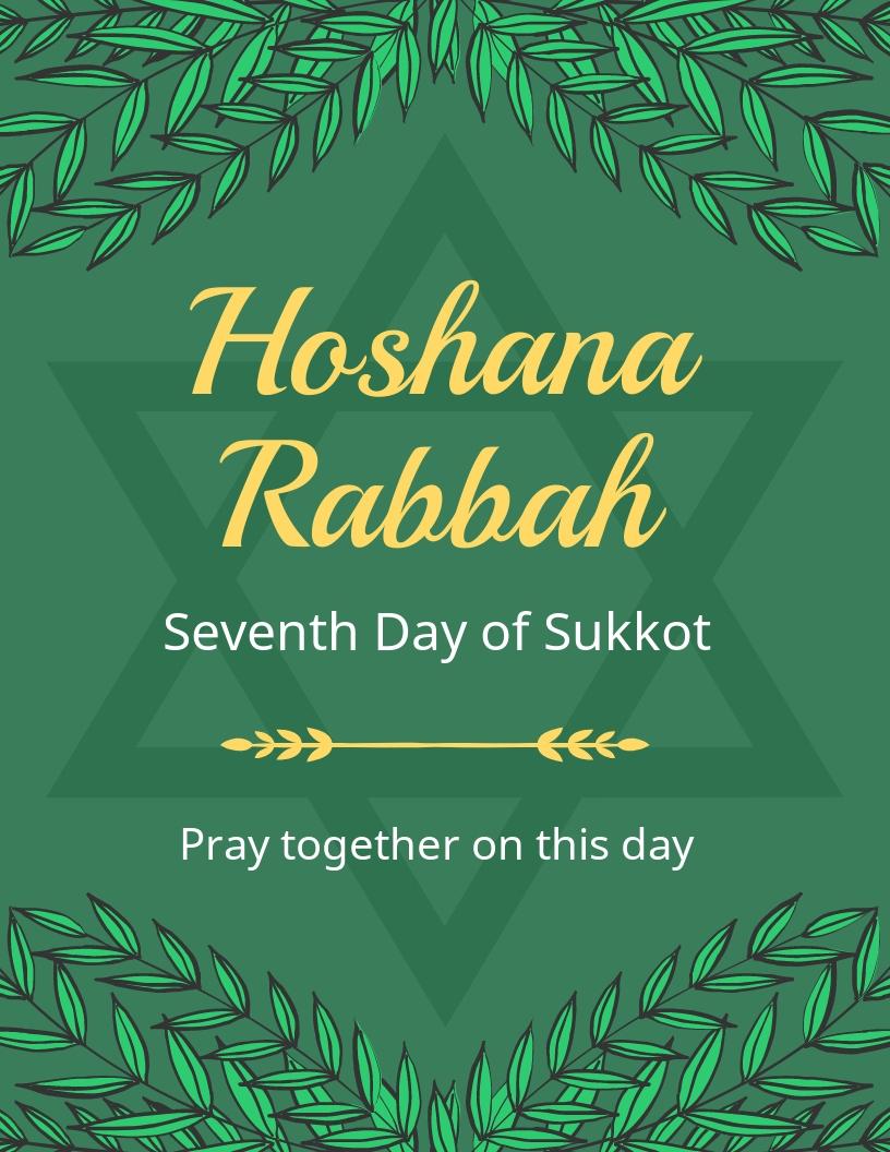 Hoshana Rabbah Flyer Template.jpe
