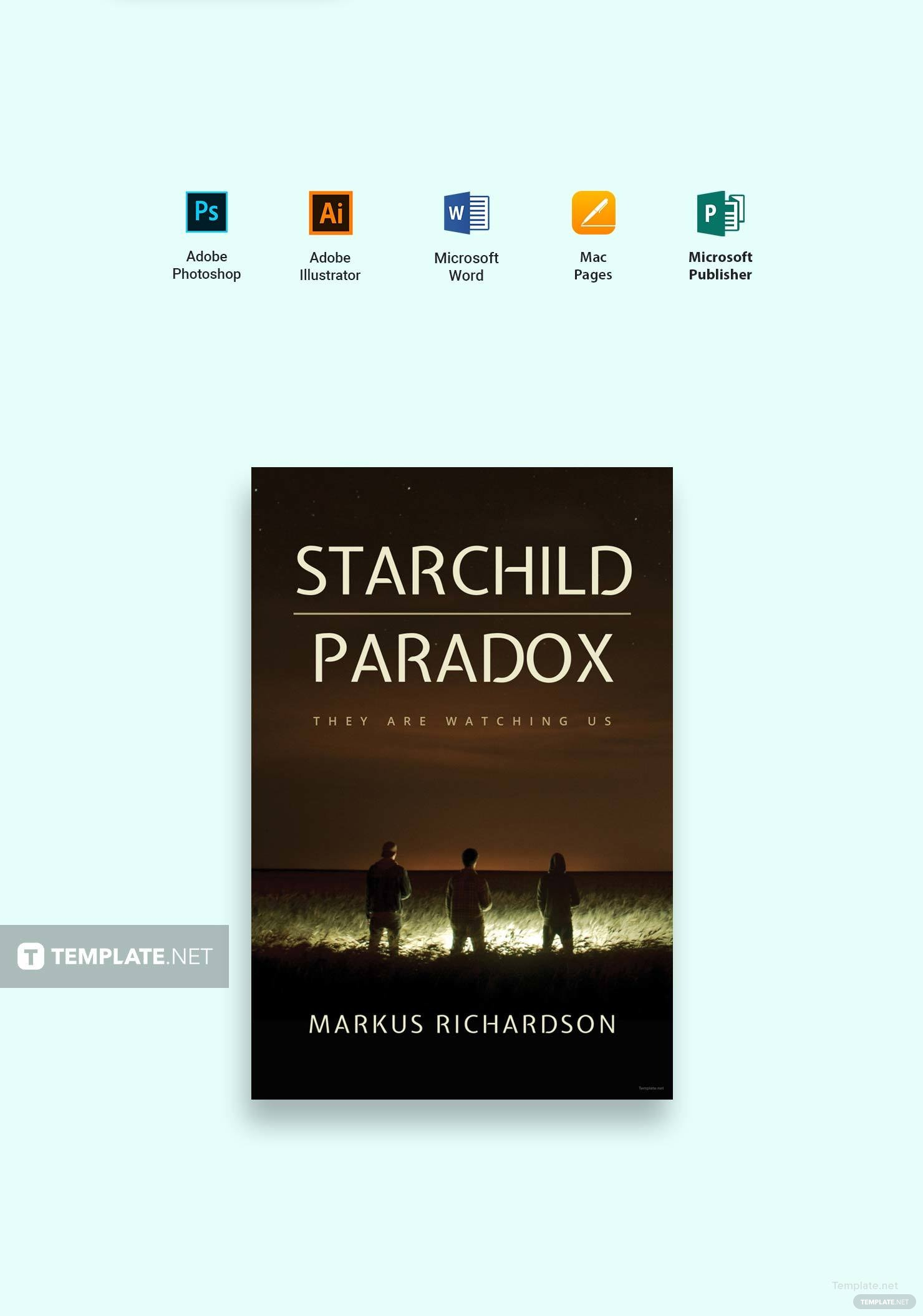 microsoft publisher book cover template