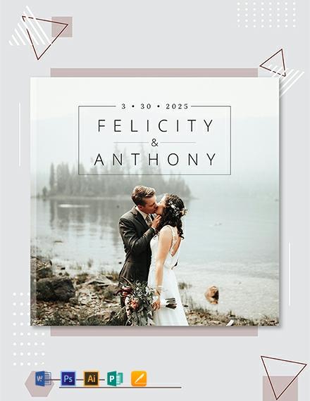 Free Wedding Photobook Cover Template