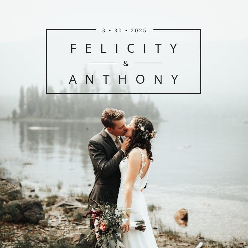 Wedding Photobook Cover Template