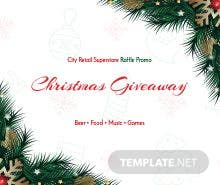 Free Christmas Raffle Promo Ticket Template