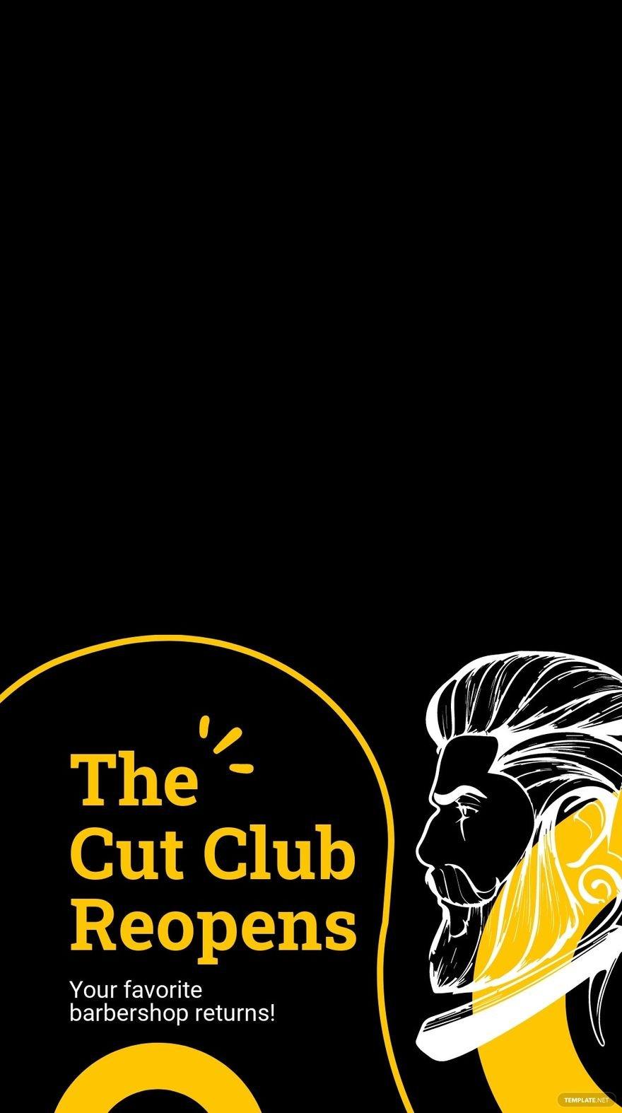 Barbershop Reopening Snapchat Geofilter Template.jpe