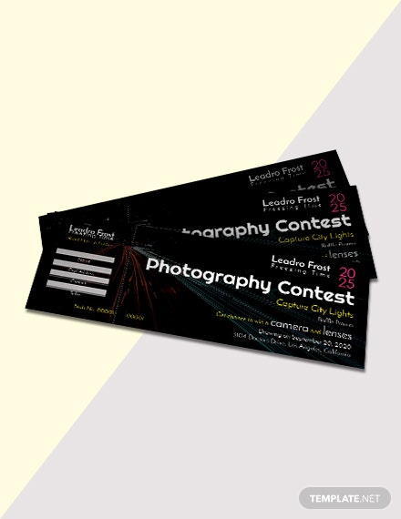 Free Photography Raffle Ticket Template