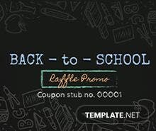 Free School Raffle Ticket Template