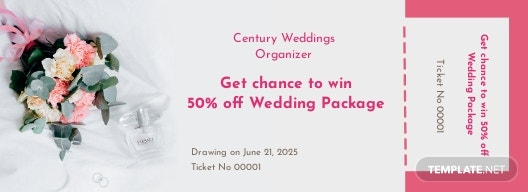 Wedding Raffle Ticket Template
