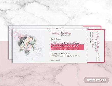 Free Wedding Raffle Ticket Template