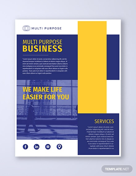 multi purpose business flyer 1x