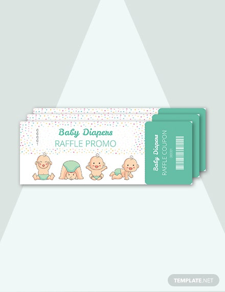 free diapers raffle ticket template download 57 tickets in psd illustrator indesign word. Black Bedroom Furniture Sets. Home Design Ideas