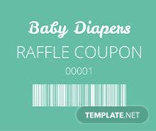 Diapers Raffle Ticket Template