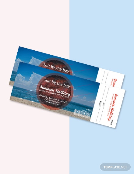 Free Holiday Raffle Ticket Template