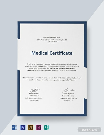 free medical certificate template 440x570 1