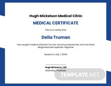 Free Medical Certificate Template