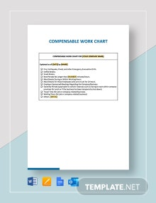 Compensable Work Chart Template