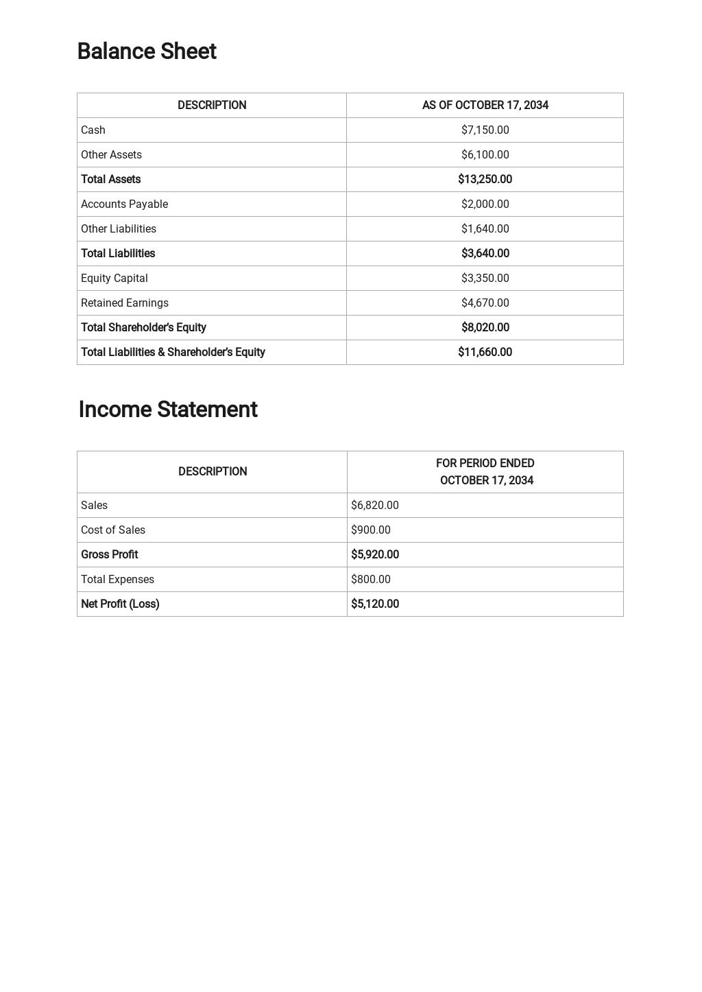 Free Financial Report Template 2.jpe