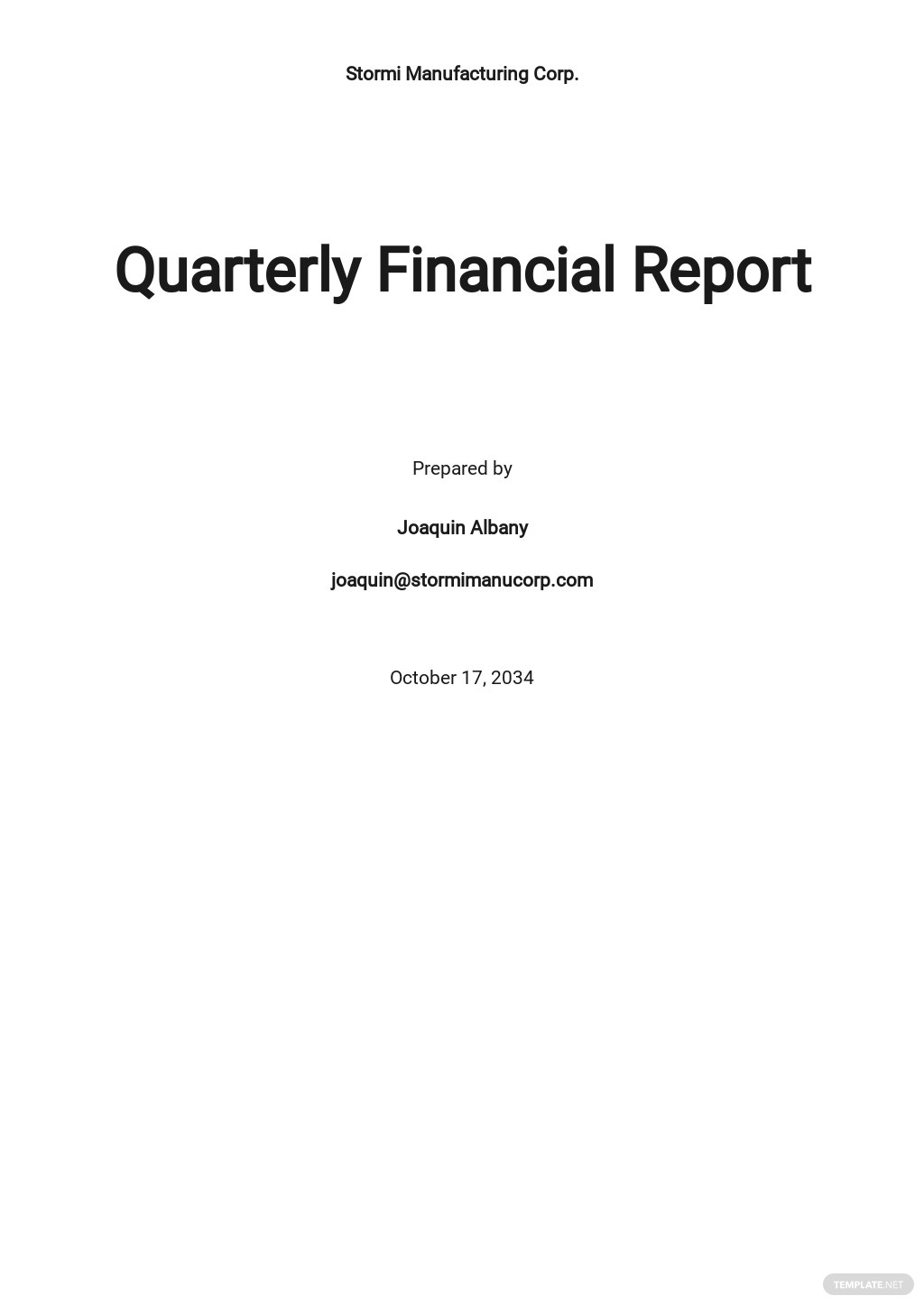 Free Financial Report Template.jpe