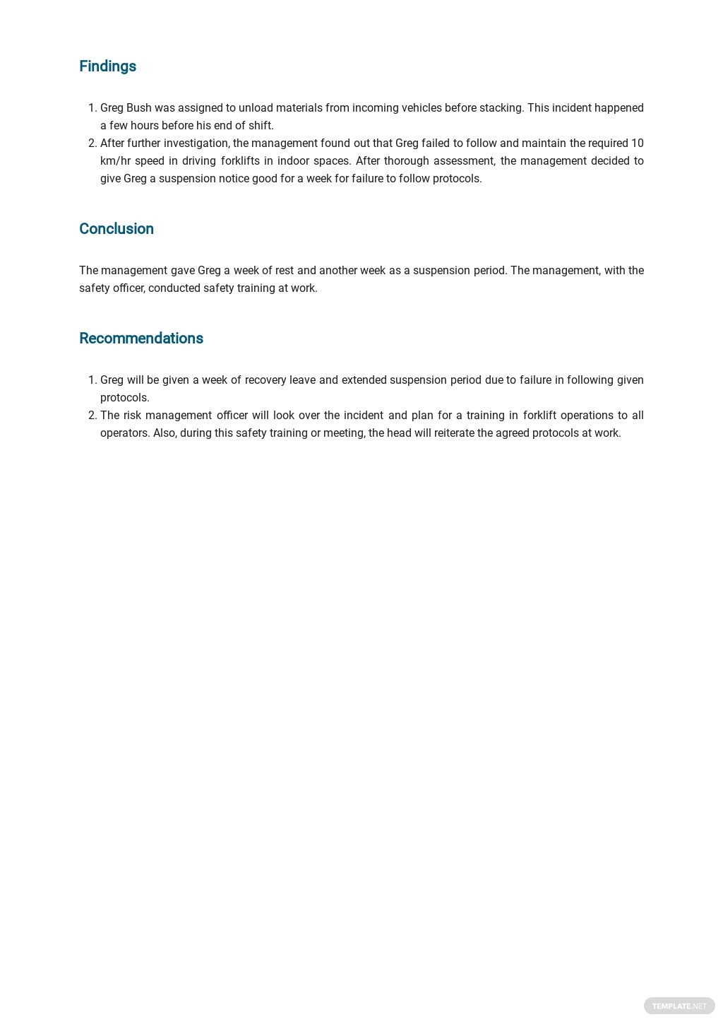 Free Incident Report Template 2.jpe