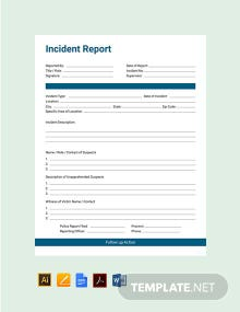 Free Incident Report Template