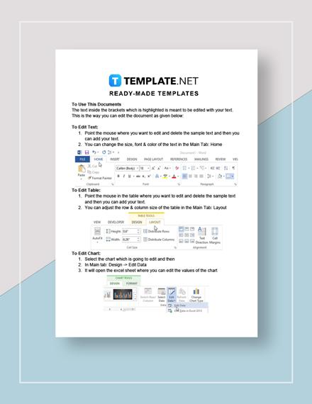 Business Analyst Job Description Instructions