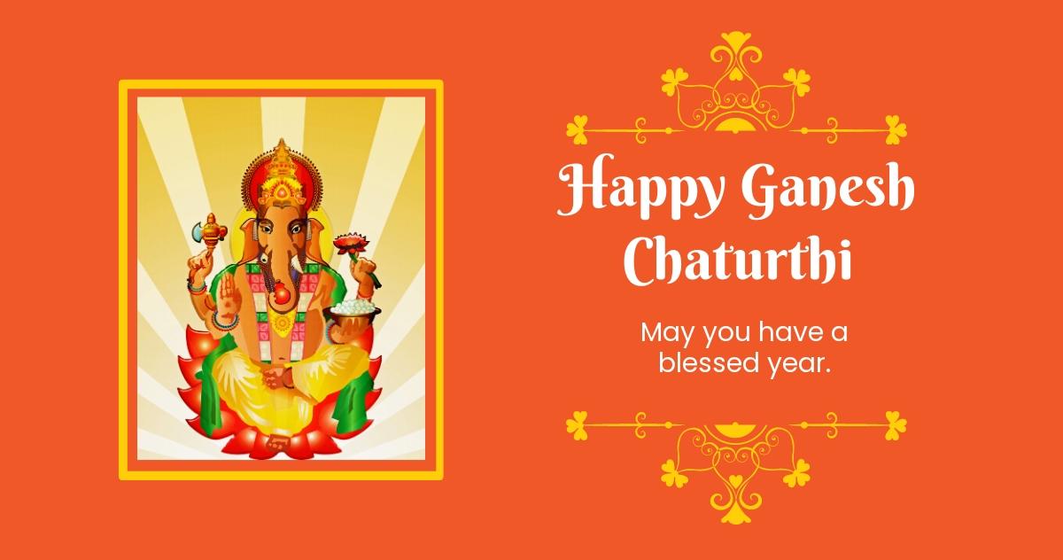 Happy Ganesh Chaturthi Facebook Post Template.jpe
