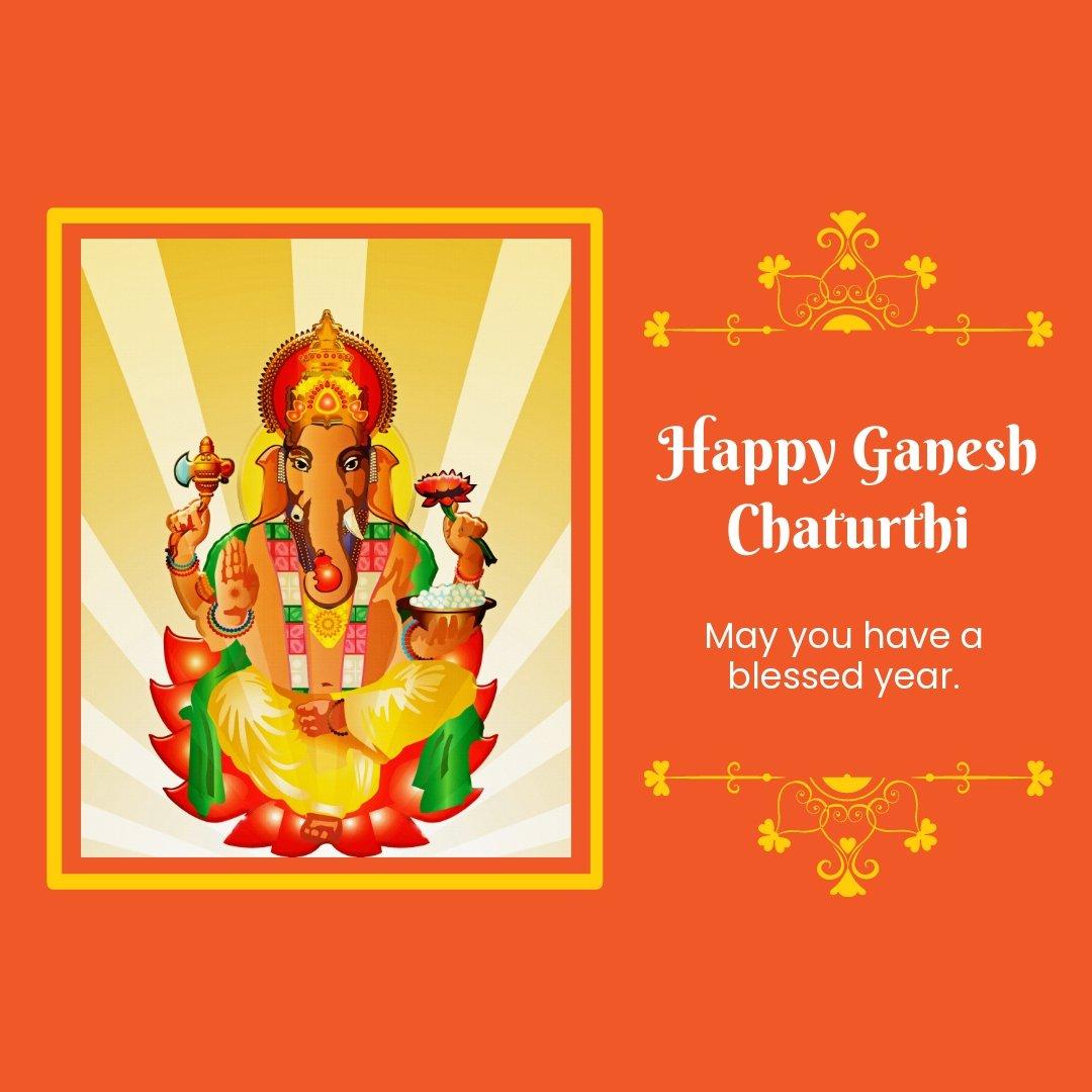 Happy Ganesh Chaturthi Instagram Post Template.jpe