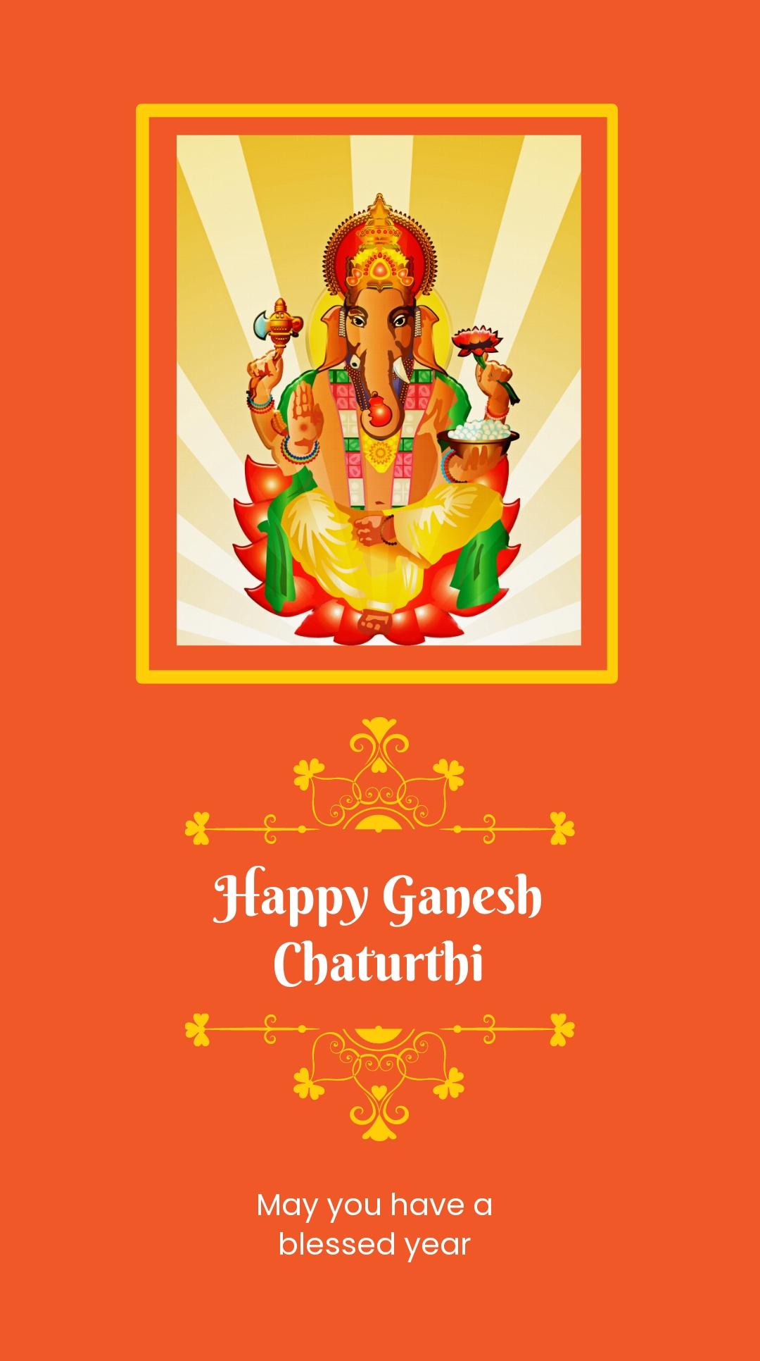 Happy Ganesh Chaturthi Instagram Story Template.jpe