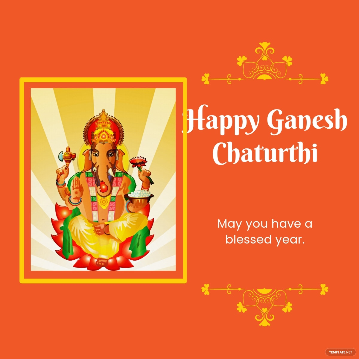 Happy Ganesh Chaturthi Linkedin Post Template.jpe