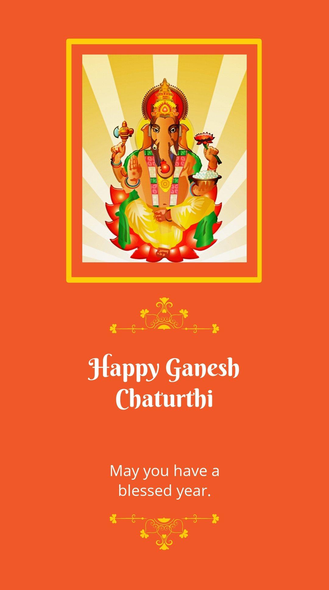 Happy Ganesh Chaturthi Whatsapp Post Template.jpe