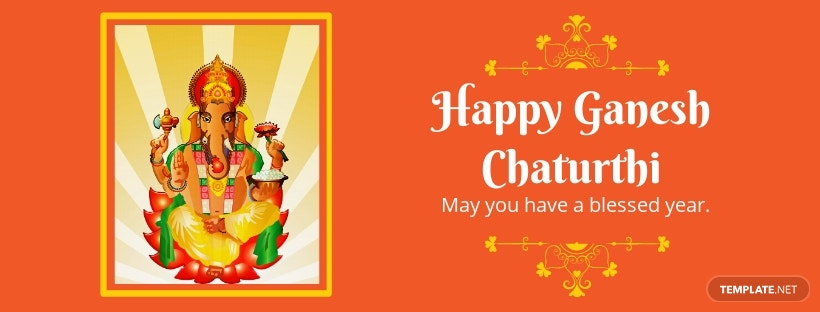 Happy Ganesh Chaturthi Facebook Cover Template.jpe