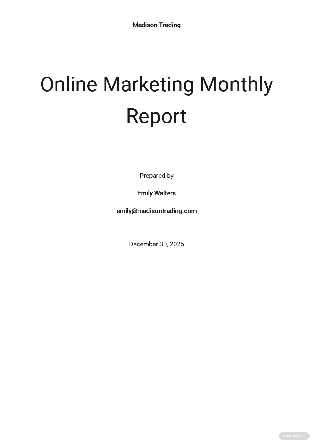 Free Monthly Report Template.jpe