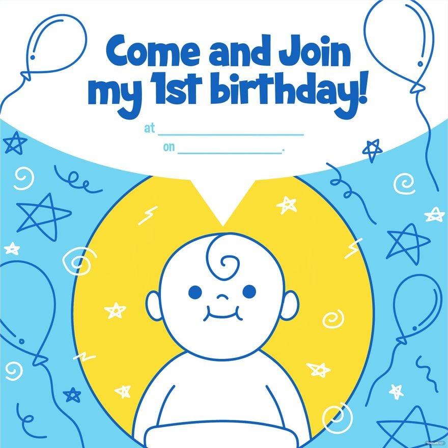 Happy st Birthday Invitation Vector