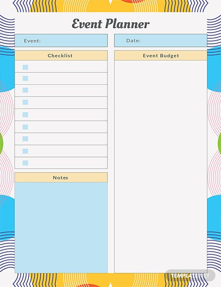 Free Event Planner Template