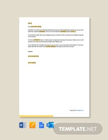 Final Demand for Payment Letter Template