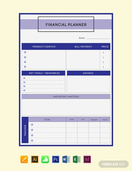 Free-Financial-Planner-Template