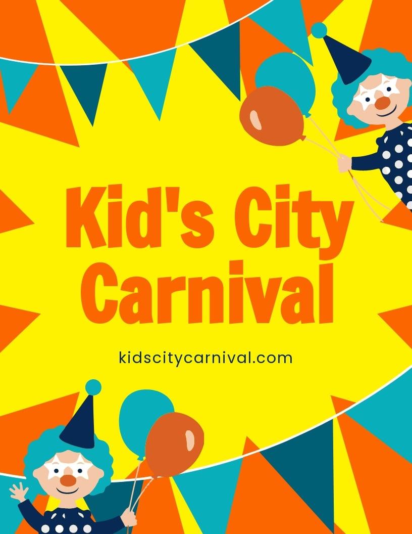 Kids Carnival Flyer Template.jpe