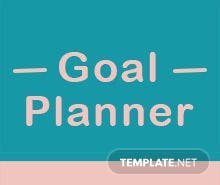 Free Goal Planner Template